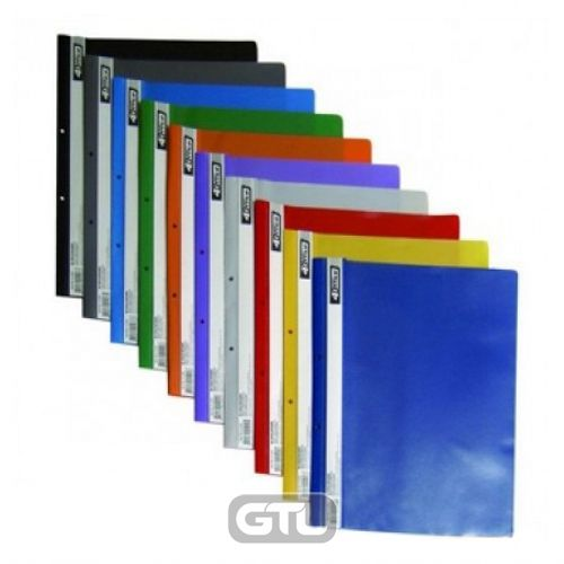 Швидкозшивач пластик прозор. верх с Перф. 4Office А4 зелений