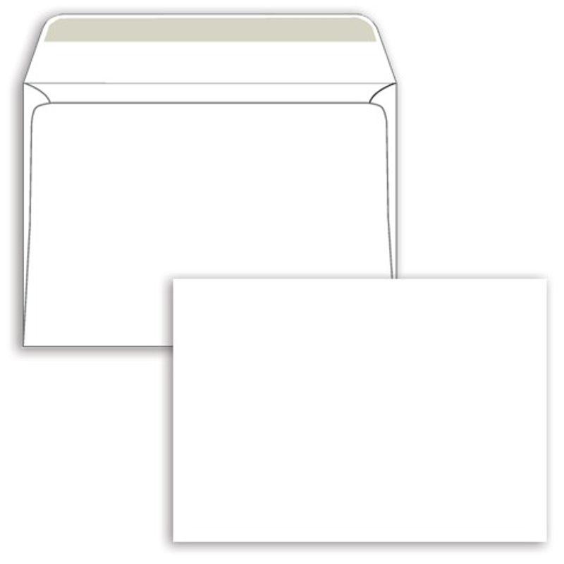 Конверт паперов. С6 (114х162мм) білий МК, (0+0) мокроклеючі