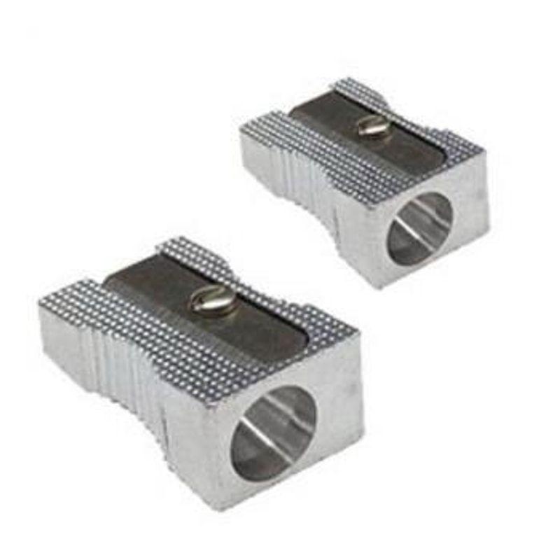 Точилка металлическая прямоуг с выемками для пальцев