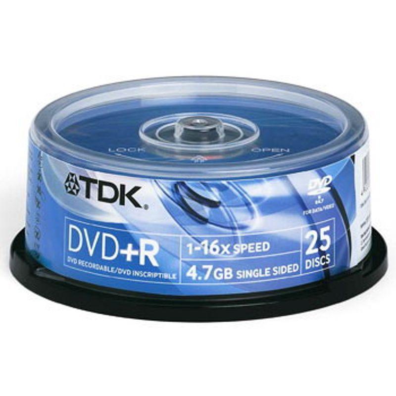 Диск DVD+R (Cake 25) TDK 4. 7 GB/120 min16x