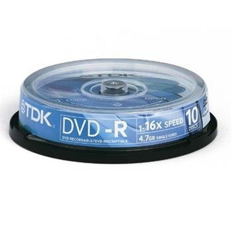 Диск DVD+R (Cake 10) 4. 7 GB TDK /120 min16x