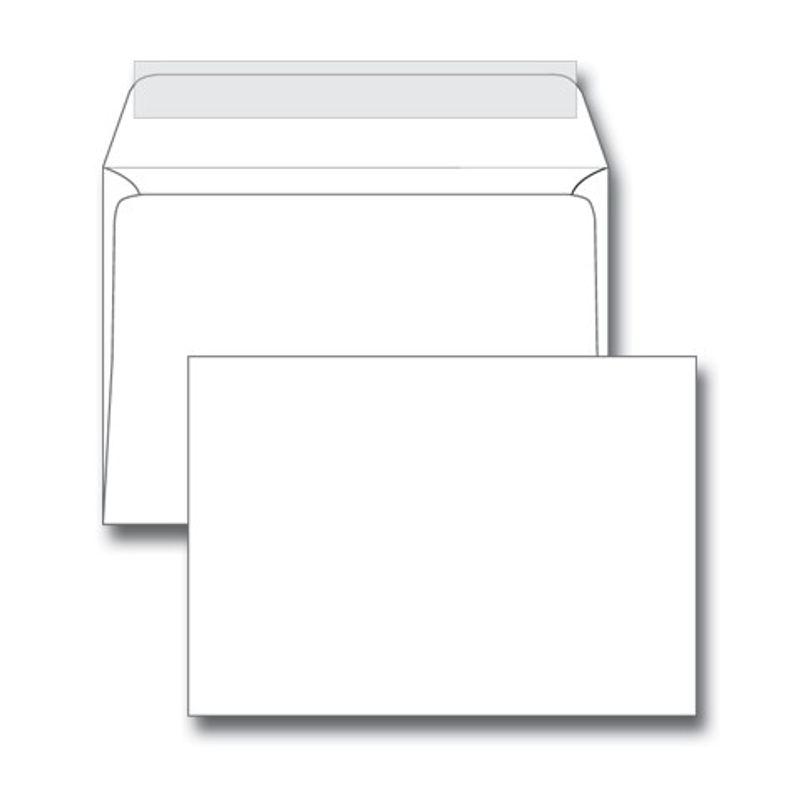 Конверт паперов. С6 (114х162мм) білий СКЛ, (1+1) з відривною смужкою