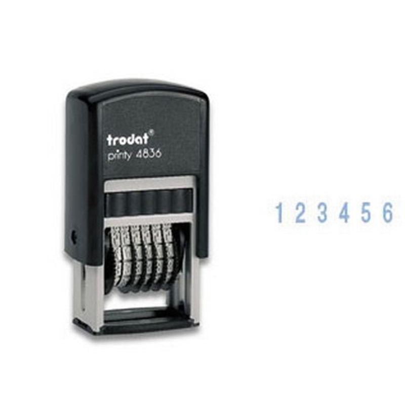 Нумератор 6-ти разрядный 3, 8 мм пластмассовый