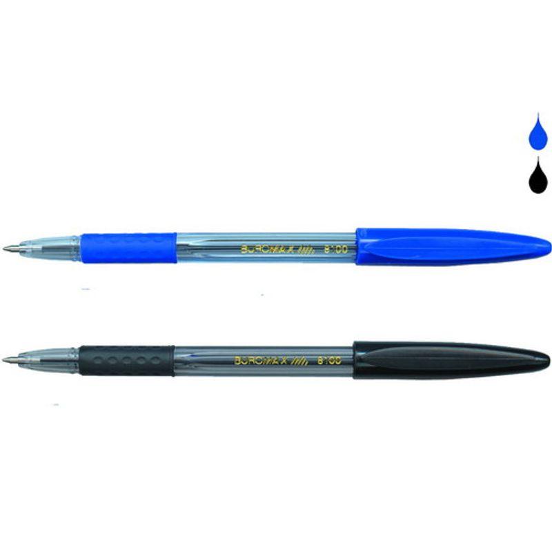 Шариковая ручка с рез. гриппом 1200 м, синяя