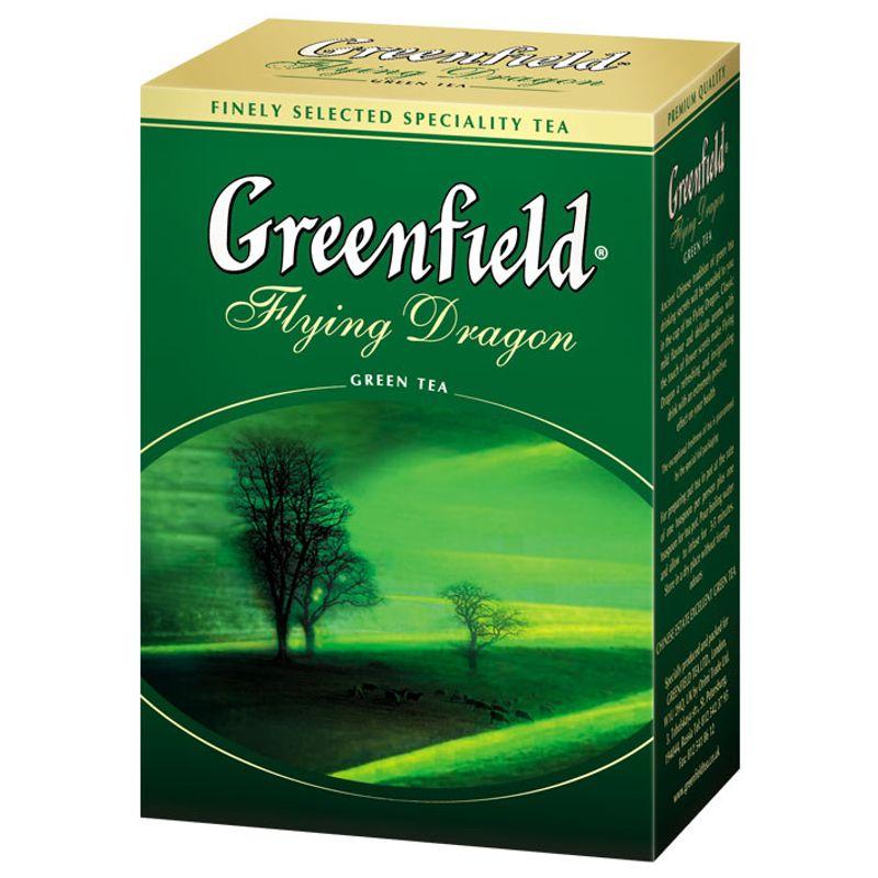 Чай Гринфилд зеленый Flying Dragon лист 100г