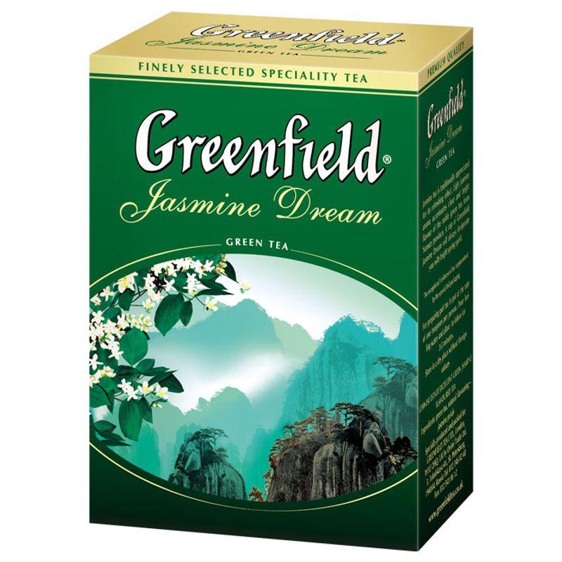 Чай Гринфилд зеленый с жасмином Jasmine dream лист 100г