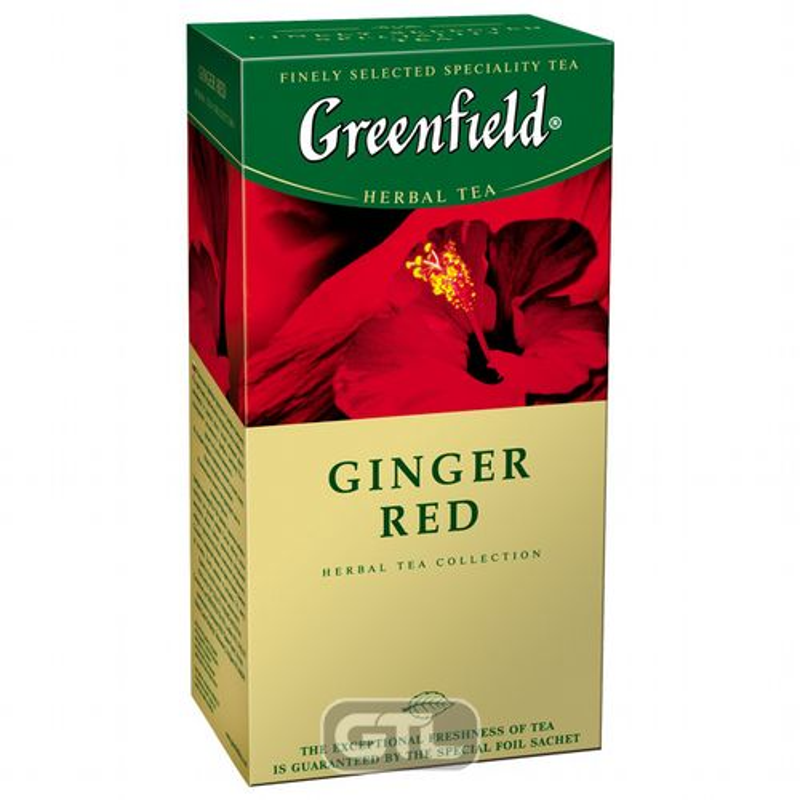 Чай Гринфилд травяной каркаде Ginger Red, (пакет на нитке) 25*2г