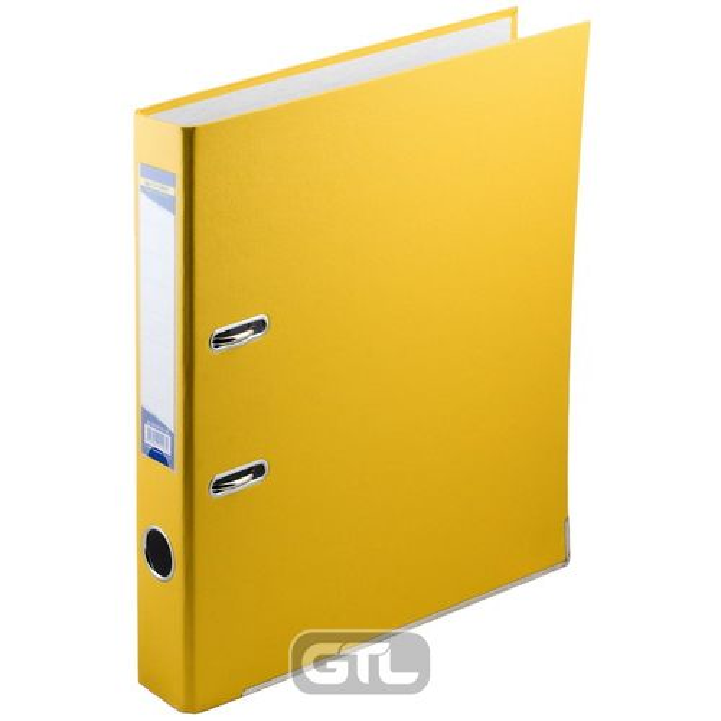 Папка накопительная PVC-карт. А4 5 см желт