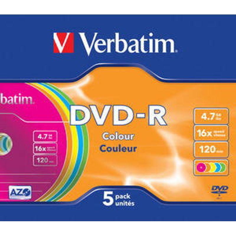 Диск DVD-R Slim Verbatim 4. 7GB/120min 16x Colour