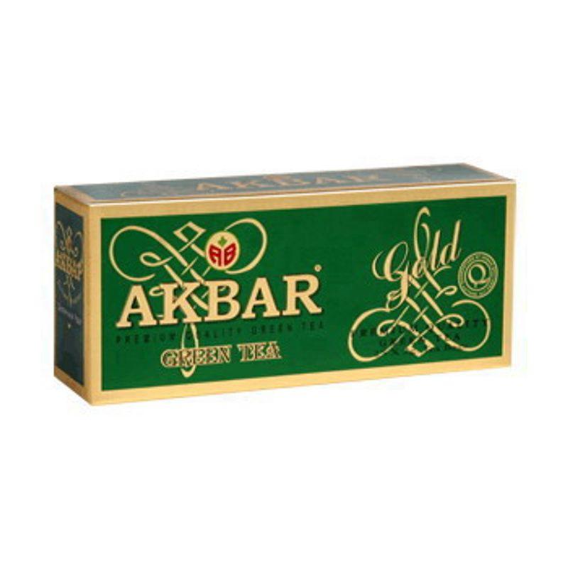 Чай Акбар Зеленый, (пакет на нитке) 25*2г