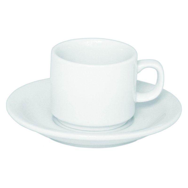 Чашка под лого фаянс д/кофе, 90мл, с блюдцем