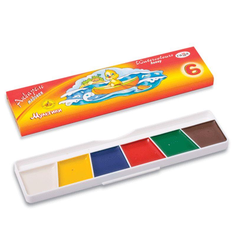 Фарби акварельні 6 кольор.