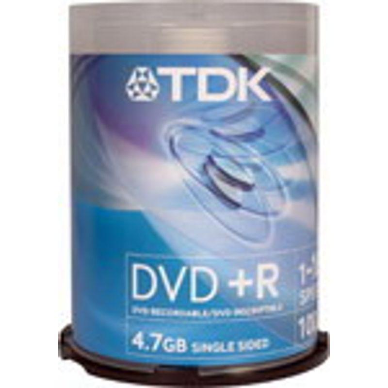 Диск DVD+R (Cake100) TDK 4. 7 GB/120 min16x
