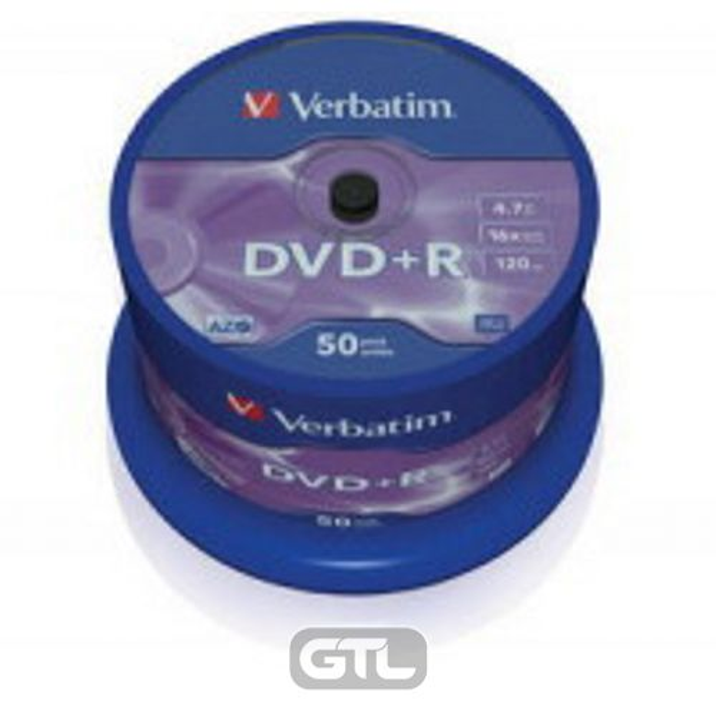 Диск DVD+R (Cake 50) Verbatim 4. 7 Gb DL 16x