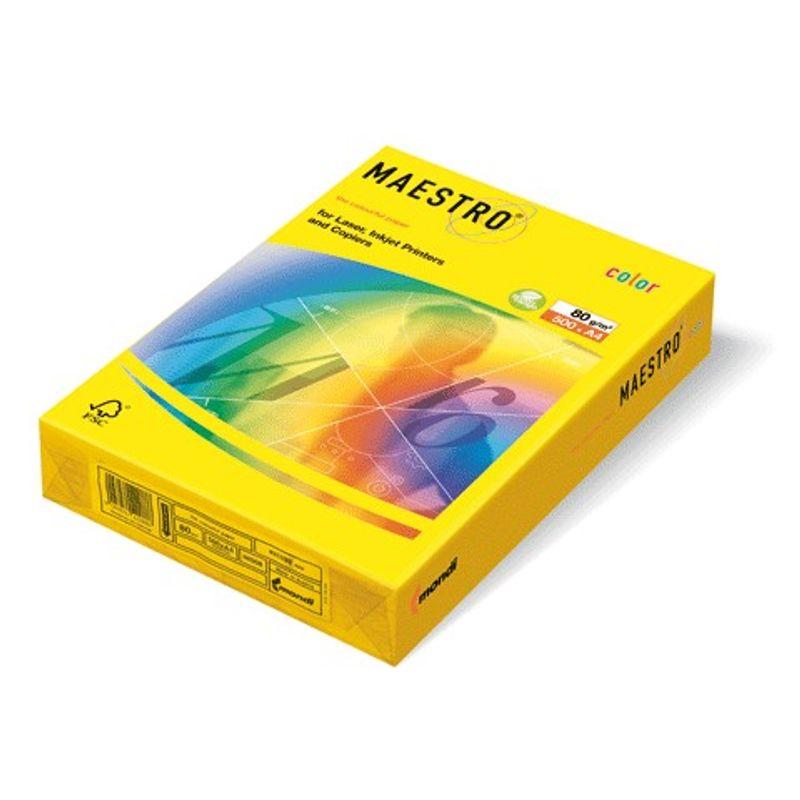 Папір кольоровий A4 жовтий неон (80г/м2)500арк