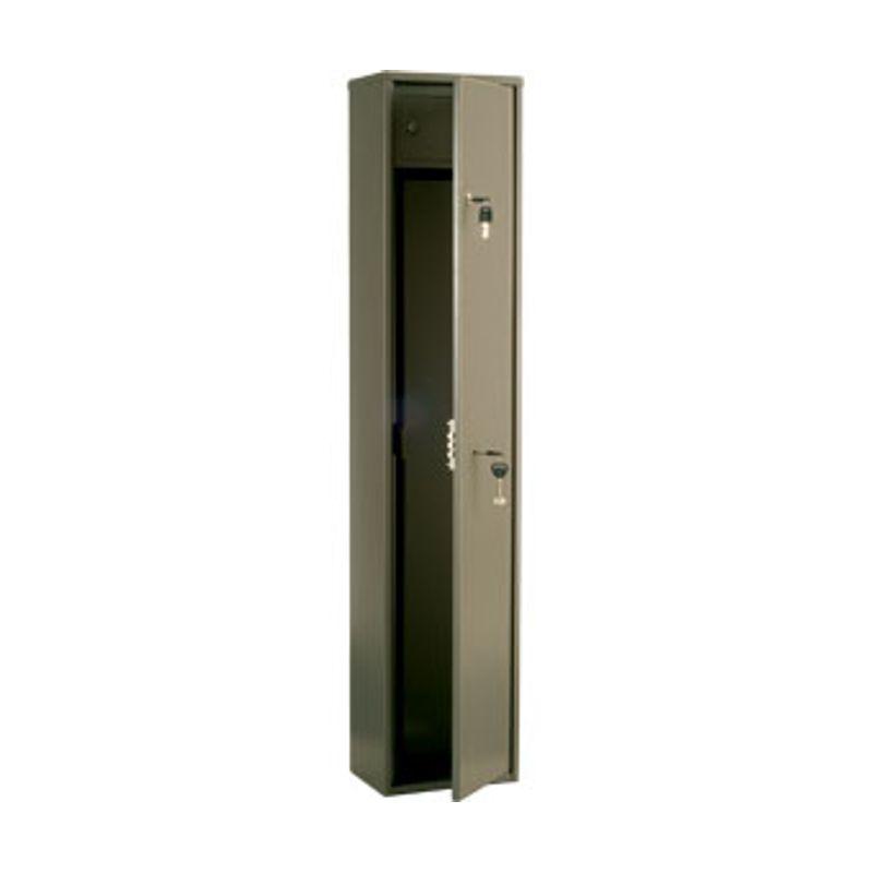 сейф збройовий; зовн. 1250х260х180мм; 2 замка ключових; 1 ствол; патронное отделение; Вес14