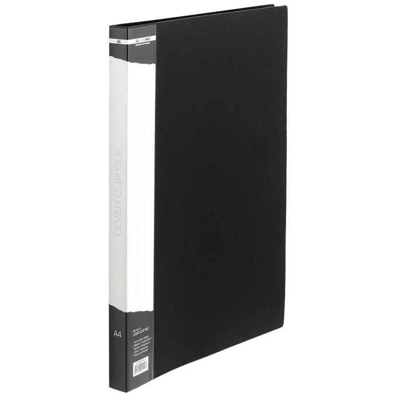 Папка с прижимом пластик плотность 700мкм, черная