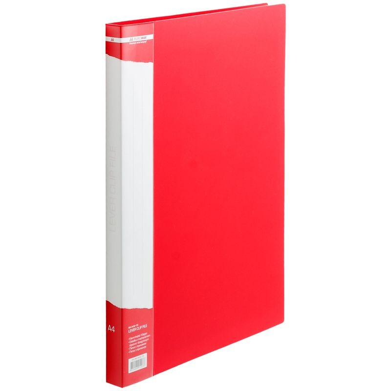 Папка с прижимом пластик плотность 700мкм, красная