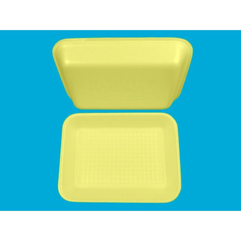 Подложка одноразовая вспененный ПС жёлт. 210х155х30мм (200шт/уп)