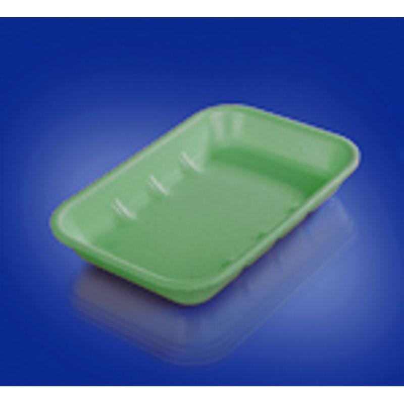 Подложка одноразовая вспененный ПС зел. 222х133х33мм (200шт/уп)