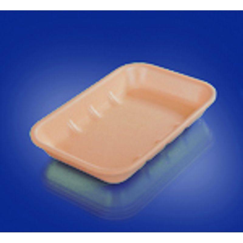Подложка одноразовая вспененный ПС оранж. 222х133х33мм (200шт/уп)