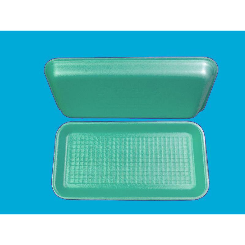 Подложка одноразовая вспененный ПС зел. 270х136х20мм (200шт/уп)