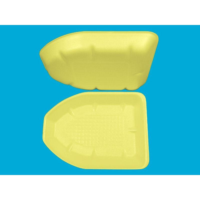 Подложка одноразовая вспененный ПС жёлт. 225х161х25мм (200шт/уп)