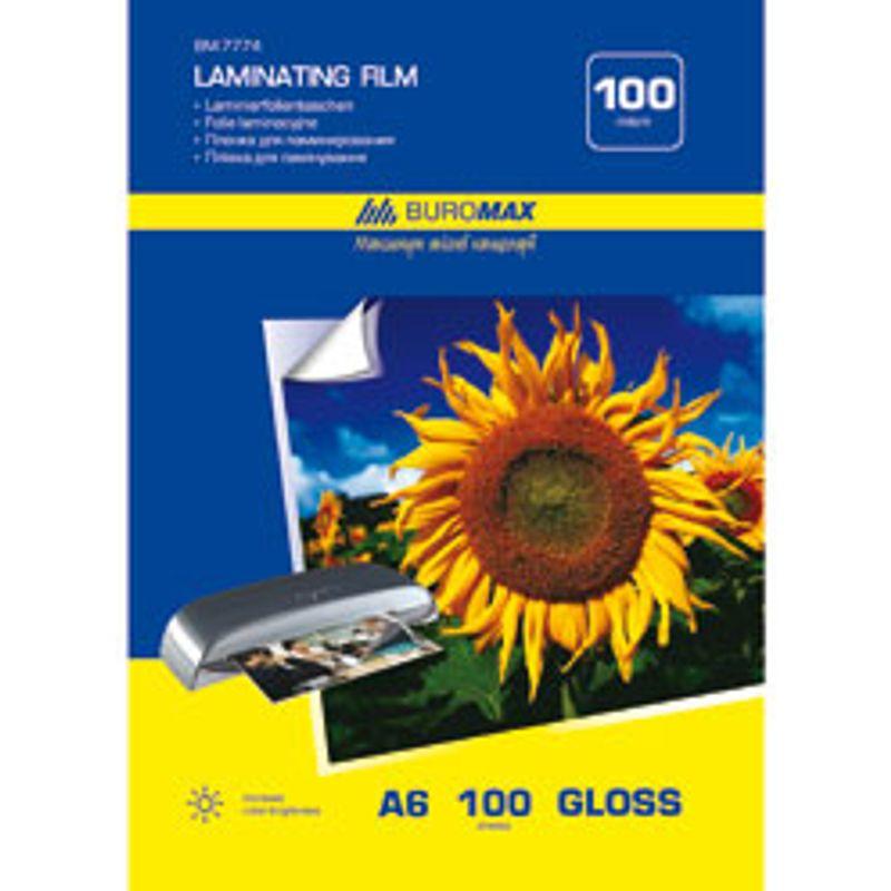 Плівка для ламінування А6, 100 мк, прозора, (уп/100л)