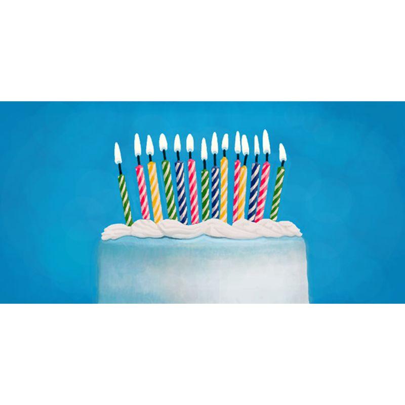 свічка в торт 24шт + 12 підставок