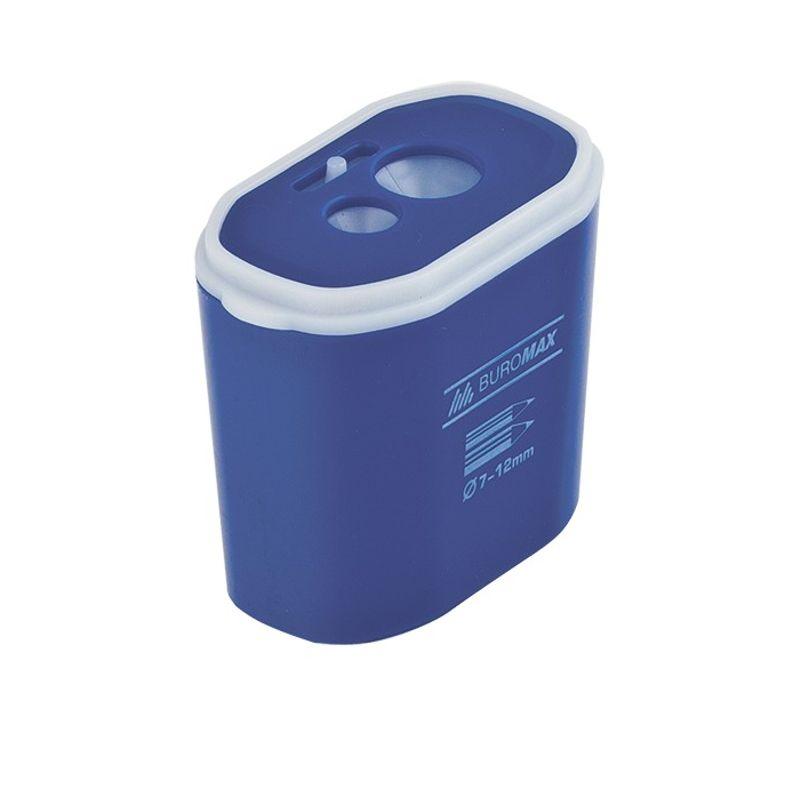 Точилка пластиковая с контейнером двойная