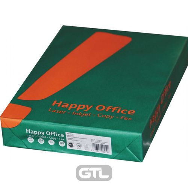 Папір офісний A4 80г/м2 Happy office 500 арк