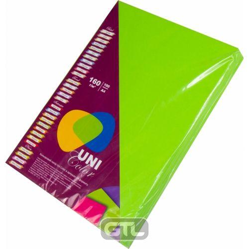 Папір кольоровий A4 зел. насич. (160г/м2)100арк