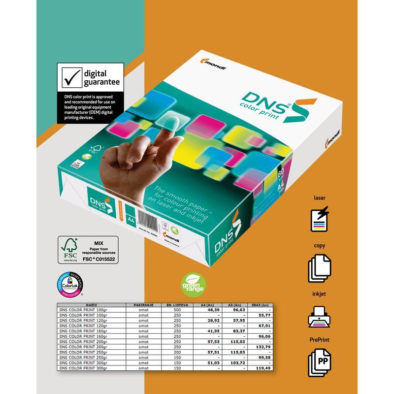Папір офісний A4 160г/м2 DNS (250арк) Color Print