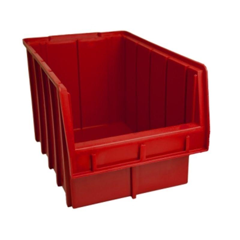 Ящик складской 700. 20*21*35см червоний